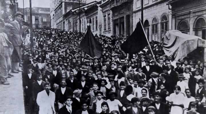 Greve Geral em São Paulo, SP, 1917. Coleção História da Industrialização no Brasil, São Paulo, foto 208. Arquivo Edgard Leuenroth.